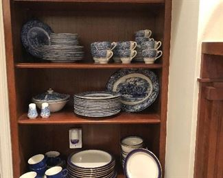 """ Liberty Blue "" Staffordshire Ironstone -England Plus Mikasa  ""Granada Blue"""