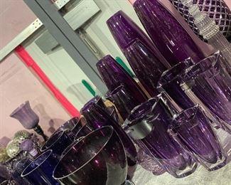 Beautiful Purple Art Glass