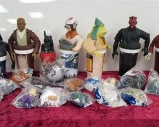 Misc. Star Wars Collectible Cups and McDonalds Toys
