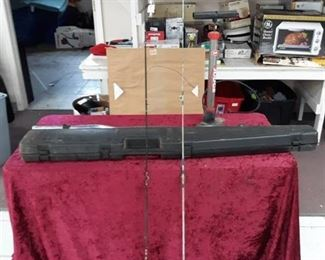 Rifle Storage Box, Fishing Poles, Weight Bar, Air Pump