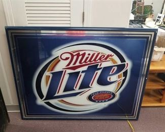 Miller Lite Mirrored Sign