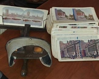 Rare Stereoscope and approximately 100 viewing cards.