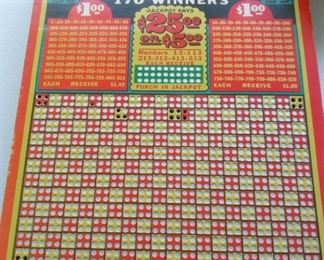 One of 10 Jackpot Charley vintage game boards.