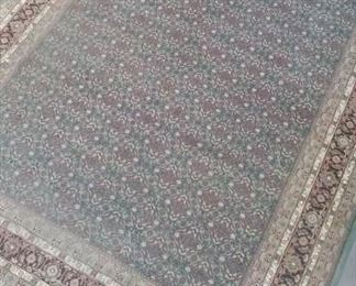 """Beautiful Persian rug with pad included:  9'7"""" by 13'4"""""""