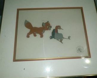 Original animation production cel used in  Disney's The Fox and Hound
