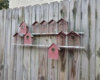 Bird House Fence Decor
