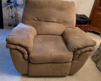 #2Tan microfiber recliner chair  $75.00