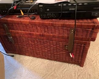 #13Wicker Basket trunk 32x18x16 $30.00