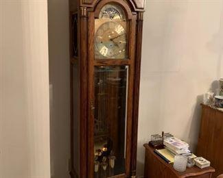 #14Howard miller grandfather clock 58 anniversary edition 20x12x79 $500.00