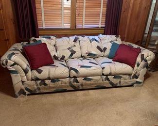"#42green/white burgundy sofa bed 98"" long $20.00"
