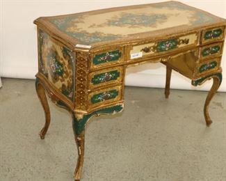 Italian Venetian Hand painted Desk