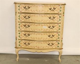 Hand Decorated 5 Drawer Chest