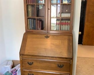 #1  Maddox of Jamestown Drop front Secretary with 3 drawers 31x17-29x71  $ 175.00