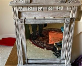#2  Rustic antique hall mirror with hooks 29x45  $ 225.00