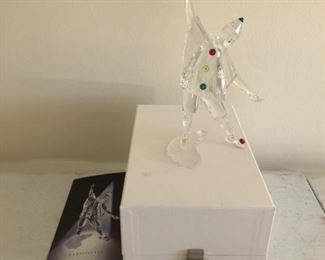 Swarovski  clown, one of many pieces for auction