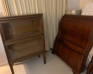 Barrister case Sleigh bed twin