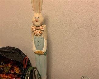 Tall wood bunny