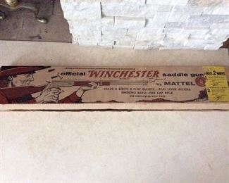 Living Room - Winchester toy rifle