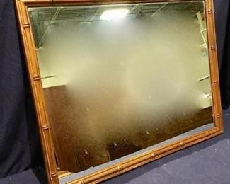 Large Vintage Solid Wood Mirror https://ctbids.com/#!/description/share/275851
