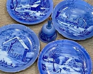 Blue and White Plates and Bell https://ctbids.com/#!/description/share/275908