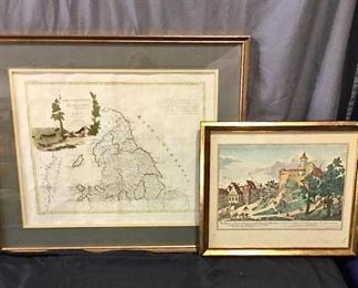 Vintage Map and Artwork https://ctbids.com/#!/description/share/275919