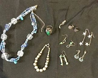 Silver, Turquoise, and Costume Jewelry https://ctbids.com/#!/description/share/275920