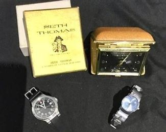 Stylish Men's Watches and Travel Clock https://ctbids.com/#!/description/share/275929