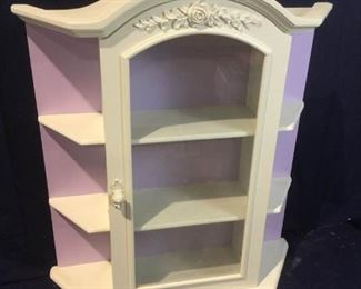 Wall Mounted Curio Cabinet https://ctbids.com/#!/description/share/276078