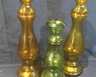 Trio of Decorative Glass Vases  https://ctbids.com/#!/description/share/276087