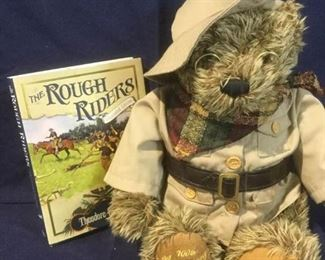 100th Anniversary Rough Rider Bear & Book https://ctbids.com/#!/description/share/276089
