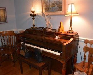 Em Knabe upright piano- 1950's