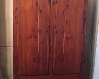 Double Door Cedar Armoire