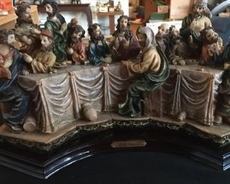 "Beautiful Hand Painted Last Supper      Height 8""     Width 16"""