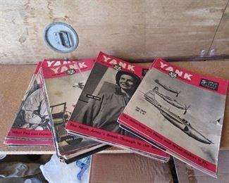 3 lots (by year) of Yank Magazine.