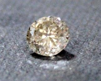 100% Natural Diamond, Round Brilliant Shape, 0.80 Carat, Color Natural Fancy Brown, Clarity SI2, 5.85 - 5.92 x 3.61 mm, With IGL Report