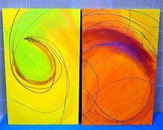 Sam Finley (American, 1956 - ), Abstract Wall Art Of Swirls, 4' x 2.5'