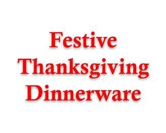 thanksgiuving dinnerware