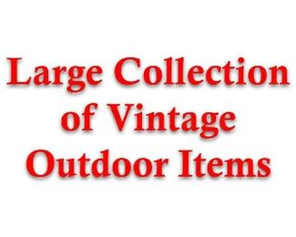 vintsge outdoor items
