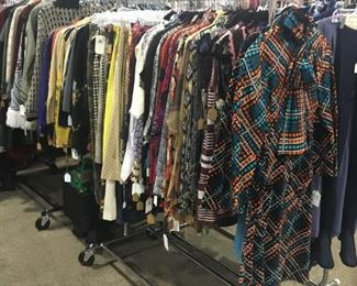 All decades of jackets, skirts, blouses and sweaters