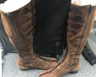 60. Vintage Vivier suede boots