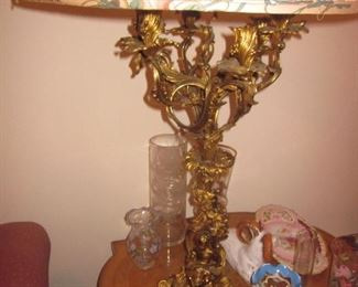 Ornate Candelabra Brass Lighting