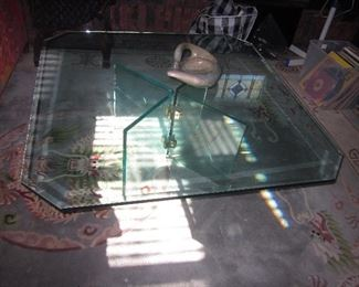 Glass 1980's Table