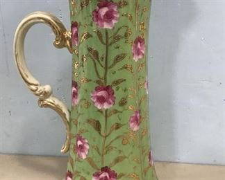 Bavarian Style Hand Painted Rose Pitcher
