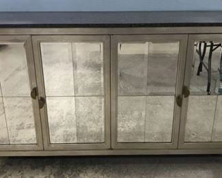Contemporary Mirrored Sideboard