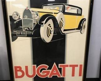 Large Bugatti Print by Rerre' Vincent