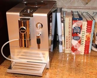 Jura Coffee Machine and Cookbooks