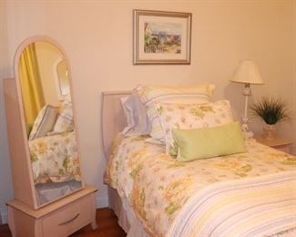 Standing Mirror and Bed