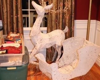 Christmas Decorations - Reindeer and Sled