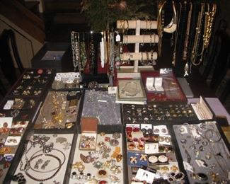 lots of costume jewelry, a little sterling and tiny bit of gold