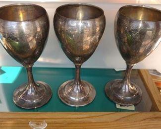 International silver Sterling goblets